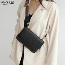 VENOF 2019 Fashion leather crossbody bags for women chest bag ladies wide straps shoulder bag luxury designer women leather bags venof fashion genuine leather phone mobile bag small crossbody bags for women simple leather ladies shoulder messenger bags 2019