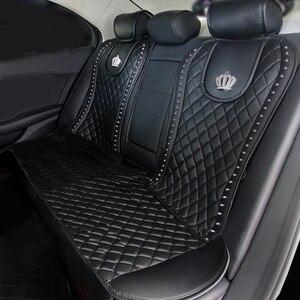 Image 4 - עור רכב מושב כיסוי יהלומי כתר מסמרות אוטומטי מושב כרית פנים אביזרי אוניברסלי גודל קדמי מושבים מכסה רכב סטיילינג