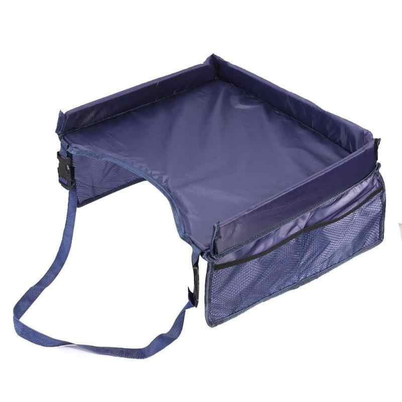 Bandeja de asiento de coche a prueba de agua bandeja de almacenamiento para niños Juguetes Para cochecito de bebé soporte de seguridad portátil Escritorio de bebé bandeja de asiento de bebé de alta calidad