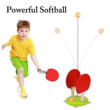 Портативный Настольный теннис, тренажер для настольного тенниса, мягкий вал, тренировочная машина, эластичность, для детей, взрослых, пинг-понг, тренировочный тренажер, Fi 3 ord