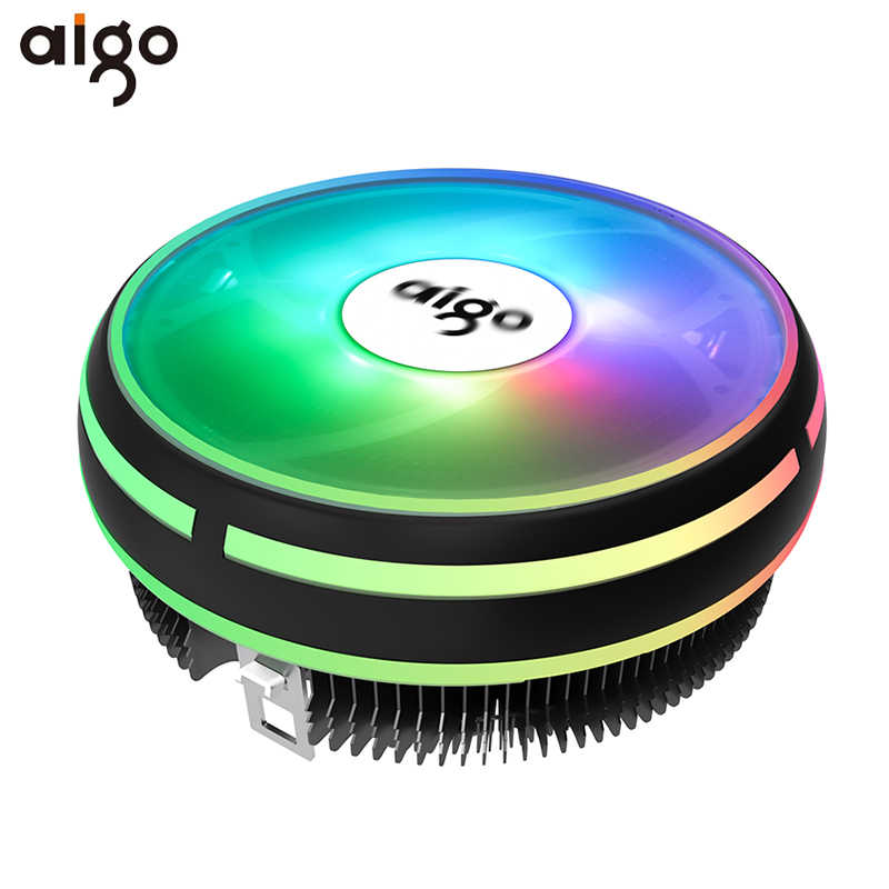Aigo Cpu Koeler Rgb 120 Mm Cpu Cooling 4Pin Pwm Fan Koeler Koellichaam Intel Lga/115X/775 /AM3/AM4 Pc Fan Koeling Computer Radiator