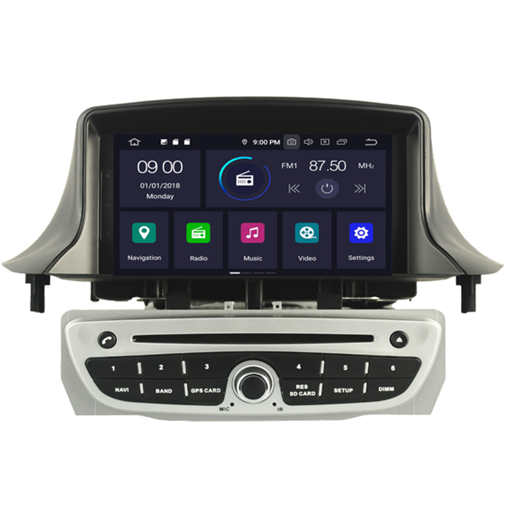 7 Inch <font><b>2</b></font> Din Android 9.0 Car <font><b>DVD</b></font> Player For <font><b>Megane</b></font> 3 Fluence 2009-2015 WIFI <font><b>GPS</b></font> Radio Multimedia Steering Wheel Stereo IPS image