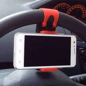 Universal Car Steering Wheel Clip Mount Holder For iPhone 7 7Plus 6 6s Samsung Xiaomi Huawei Mobile Phone GPS