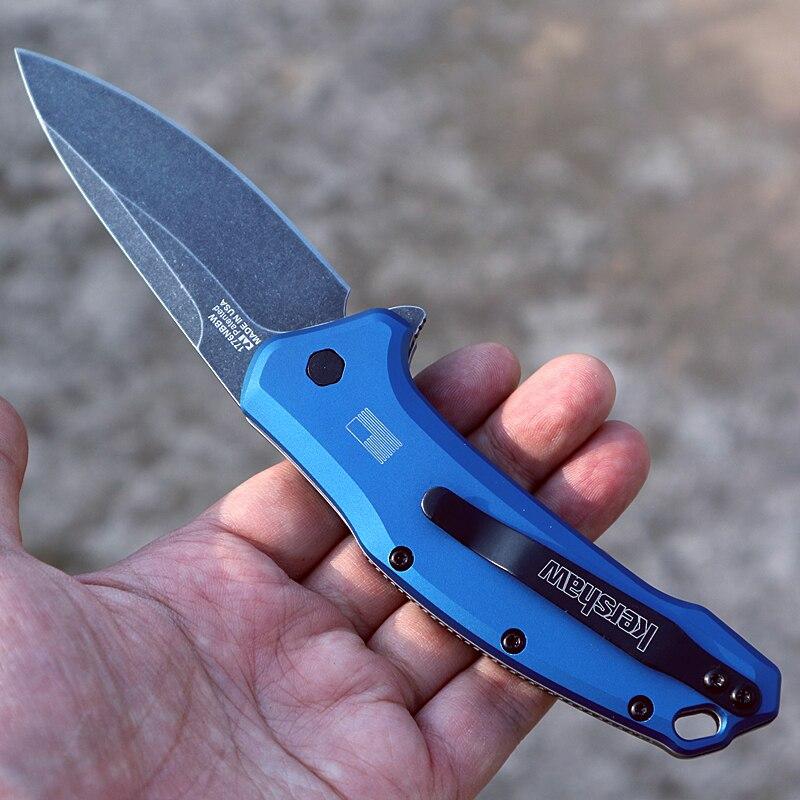 home improvement : TLF OEM k 1776 folding knife 8Cr13mov blade aluminum handle camping survival pocket knives outdoor EDC hand Tools