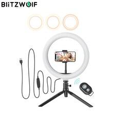 BlitzWolf BW SL3 fotoğraf fotoğraf stüdyosu flaş LED telefon tutucu özçekim sopa bluetooth uzaktan canlı çıkarılabilir Tripod standı