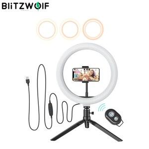 Image 1 - BlitzWolf BW SL3 fotoğraf fotoğraf stüdyosu flaş LED telefon tutucu özçekim sopa bluetooth uzaktan canlı çıkarılabilir Tripod standı
