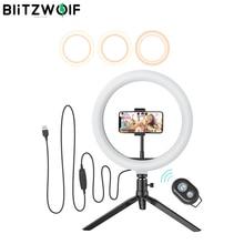 BlitzWolf BW SL3 fotografia Studio fotograficzne lampa błyskowa LED uchwyt na telefon Selfie Stick bluetooth Remote Live wymienny stojak trójnóg