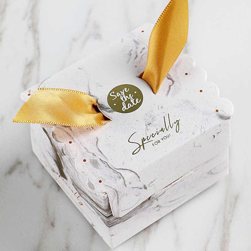 Nueva bolsa de regalo para caramelos de boda Multicolor caja para regalos y recuerdos de boda caja para baby shower papel Feliz cumpleaños caja de suministros para fiesta