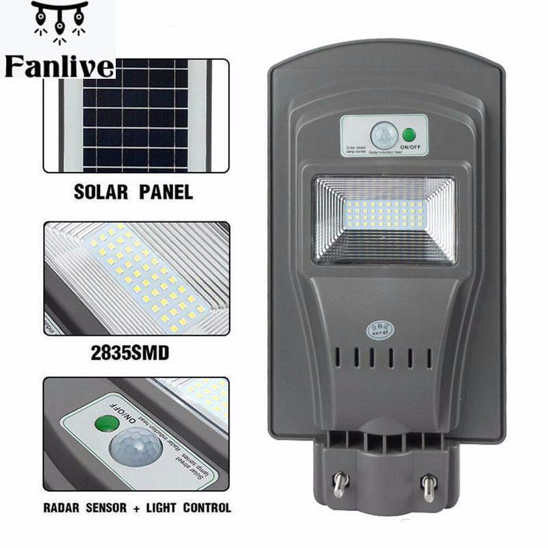 20pcsOutdoor Solar Street Light  20/40/60W LED Solar Light PIR Motion  Yard Garden Area Security Lighting Waterproof Wireless|Solar Lamps| |  -