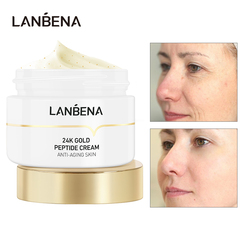 LANBENA Peptide Wrinkle Facial Cream Moisturize Whitening Fine Lines Increases Elasticity Firming Anti Aging Skin Care Day Cream