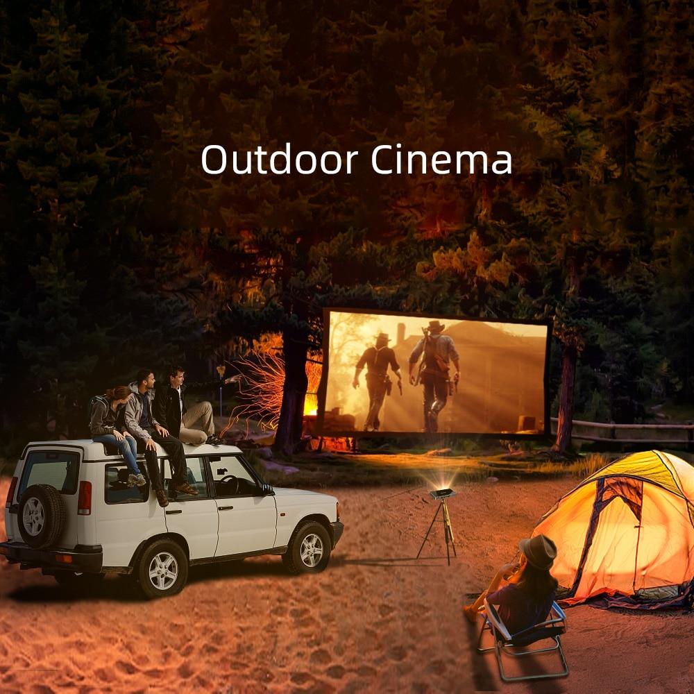 BYINTEK Mini Projector P10,Smart Wifi Pocket Pico Portable Beamer, LED DLP lAsEr Mobile Projector For Smartphone 4K 3D Cinema 4