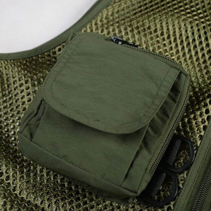 colete de pesca masculino multi bolso de malha de secagem rapida colete ao ar livre thj99