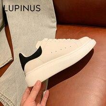 LUPINUS De Luxe Marque Femmes Chaussures de Mode Lumineux Baskets Blanches Appartements Chaussures De Loisirs Pour Filles Nouveau 34-44