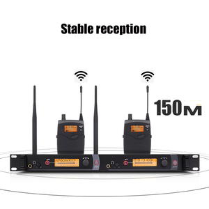 Image 2 - NTBD Bühne Leistung Sound Broadcast SR2050 Professionelle Wireless In Ear Monitoring System 2 Sender Wiederherstellung Echten Sound