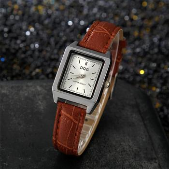 Elegant Ladies Wrist Watches 2020 Luxury Brand Women Fashion Brown Watch Classic Retro Square Female Quartz Leather Dress Clock