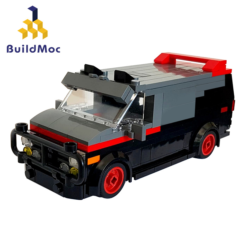 A-Team Van in minifig special car fire engine missile car plane building block truck house building block boy hand made toy