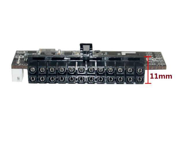 400W interruptor de salida módulo de fuente de alimentación para PC DC 12V 12V 400W 24Pin Pico PSU ATX interruptor PSU Auto Mini ITX de potencia DC a DC