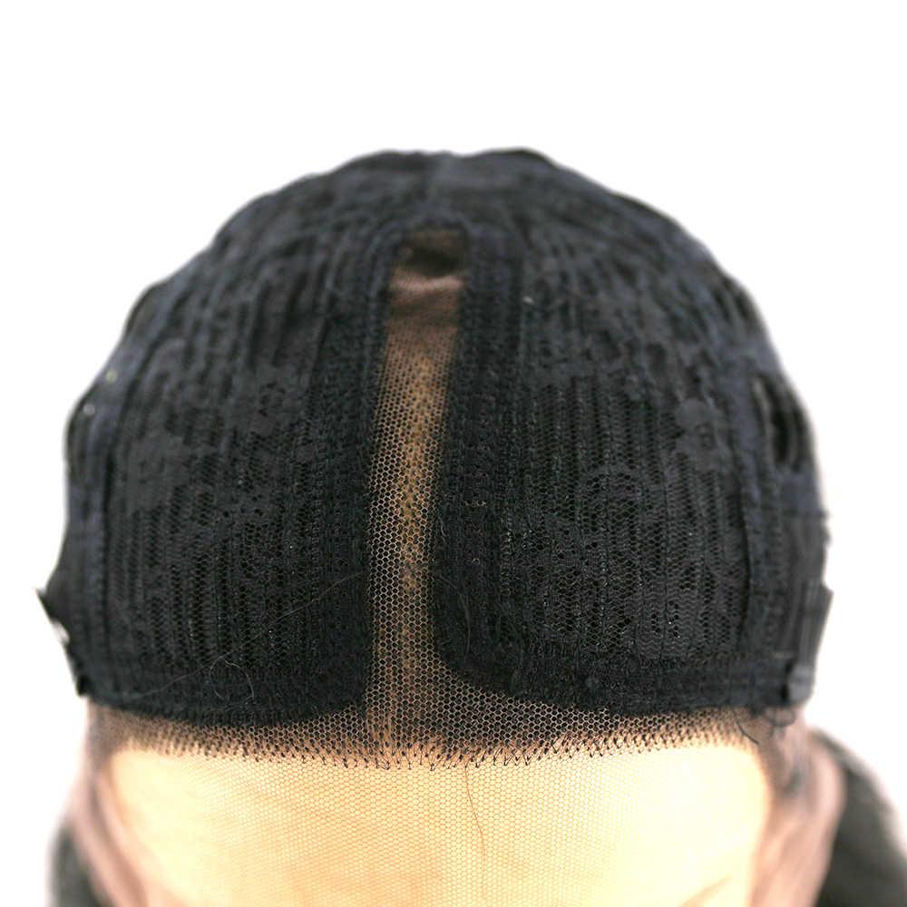 SOKU Alami Renda Depan Wig 27 Inci Panjang Sintetis Wig Gelombang Alami Rambut untuk Wanita Pesta Harian Bagian Tengah gaya Rambut Wig