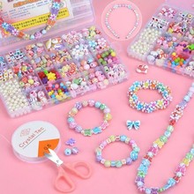 DIY Colorful Handmade Beaded Toy Accessory Set Children Creative 24 Grid Girl Jewelry Making Toys Educational Toys Childr Gift