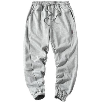 De los hombres de la primavera Pantalones Casual nuevo cómodo transpirable moda Color sólido mallas tobilleras cintura elástica pantalones de pies de viga DS698