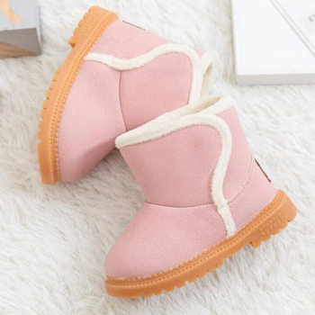 Christmas Winter Warm Fur Kids Snow Boots Inner fluff Children's Ankle Boots flat Non-slip Baby Shoes For Boy Girl 2-6 Years D30 kids bling sequin glitter boots girls 2020 winter snow shoes anti slip fur ankle boots fashion girl sneaker botas bebe niña d30