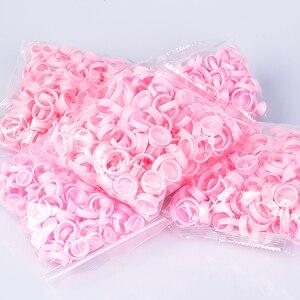 Image 5 - 100 pezzi tappi usa e getta Microblading anello rosa tazza di inchiostro per tatuaggio per forniture di aghi per tatuaggio accessori per trucco strumenti per tatuaggi