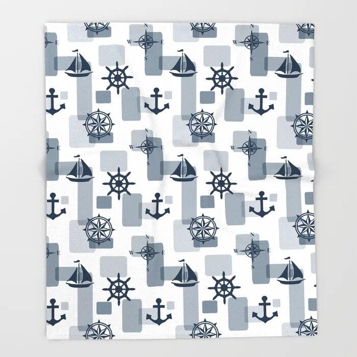 Sofa Cute Kids Design Nautical Sailboat