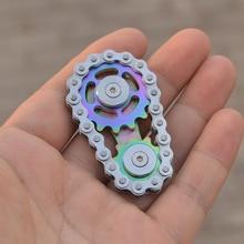 Finger top EDC metal gear decompression toy