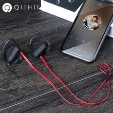 QIIHII IPX7 Waterproof Wireless Headphones Sport Earbuds HiFi Stereo Earphone Bluetooth Headset Noise Canceling Headphone leory 3 5mm active noise canceling bluetooth anc aviation headphone wireless hifi stereo sports gaming headphone