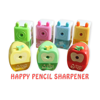 Apple Pencil Sharpener Student Manual Pencil Sharpener Cartoon Cute Pencil Sharpener Stationery Mechanical >3 Years Old