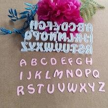 26 letras decoración tarjeta metal troquelado álbum de recortes proceso de papel plantilla DIY