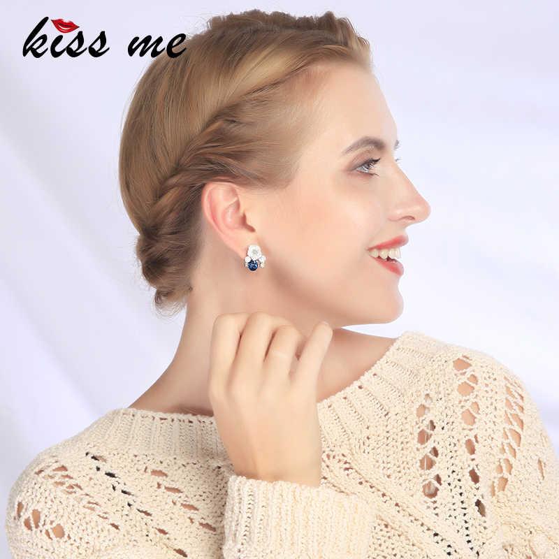 Kissme エレガントな繊細なシェル花のための女性のギフトホワイトゴールドカラーの新ファッションジュエリーアクセサリー