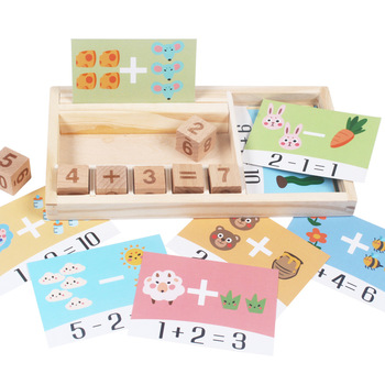 Addition and subtraction operation games learning math educational toys wooden parent-child kindergarten teaching aids toys