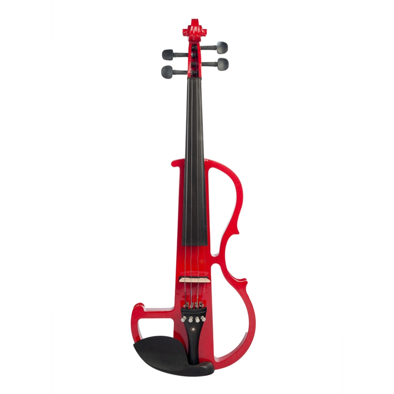 NAOMI Electric Violin 4/4 Violin Electric Violin Hard Case+ Cable +Headphone Red Color Set New