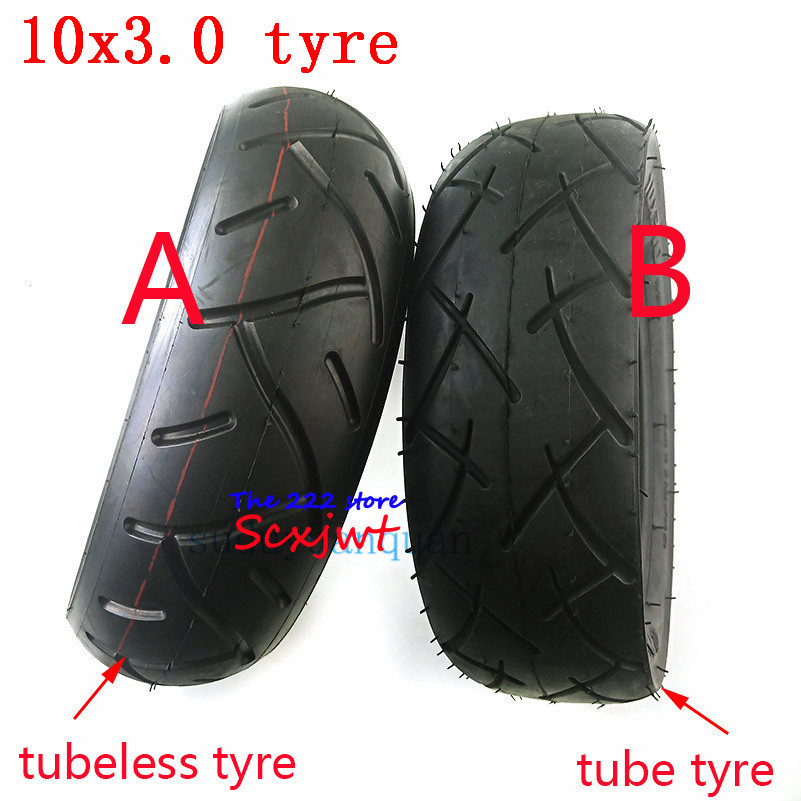 10x3.0 electric scooter Tubeless tire 10*3.0 10x3.00 tube tyre fits 10'' Motor Scooter Go karts ATV Quad  Speedway