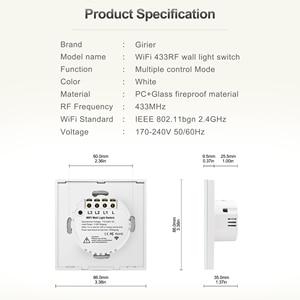 Image 5 - Interrupteur mural tactile pour éclairage intelligent wifi, commutateur pour maison intelligente, pas de fil neutre requis, compatible avec Alexa et Google home, EU, 220 V, 1 2 3