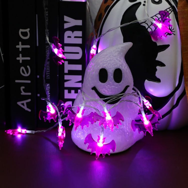 Halloween Bat String Light Lamp Holiday Party Decoration Fairy String Light Garland Battery Operated INS Decor outdoor string
