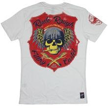 Yakuza Premium T-Shirt 2617 | YPS White Mens Rude Rough Filthy Cartel- show original titleFashion