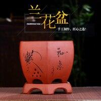 Purple Sand Bonsai Flower Pot Orchid Special Basin Absorbent Breathable Ceramic Terracotta Pot