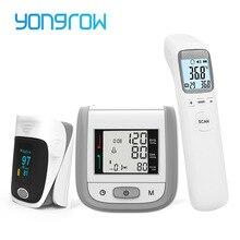 Yongrow OLED пальцевой Пульсоксиметр и ЖК-монитор артериального давления на запястье и детский инфракрасный термометр семейный уход за здоровьем подарок