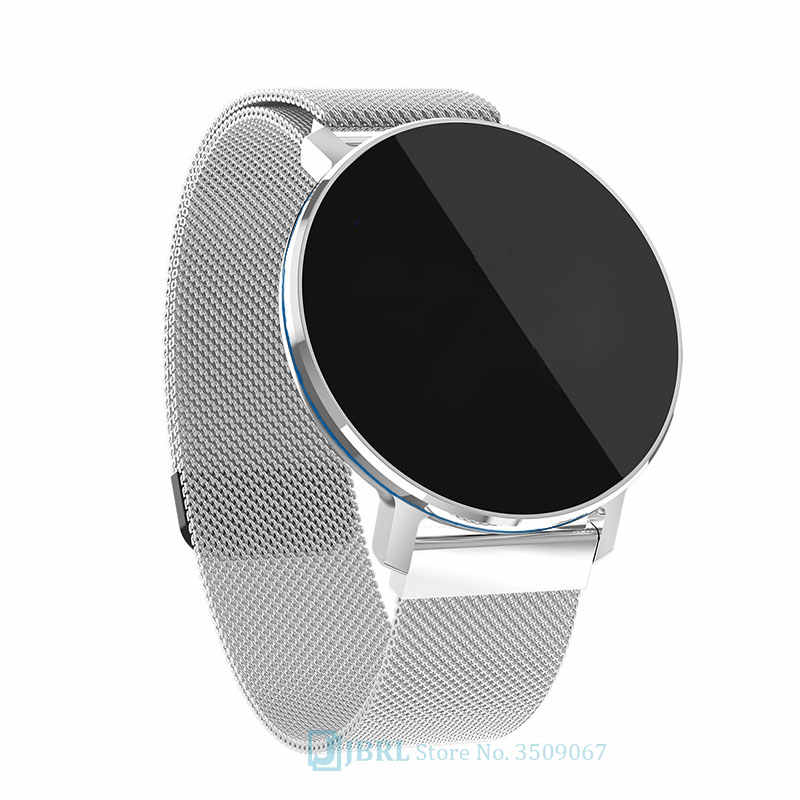 Montre intelligente ronde hommes femmes pour Android IOS Smartwatch électronique horloge intelligente Wach Fitness Tracker haut montre intelligente montre-bracelet