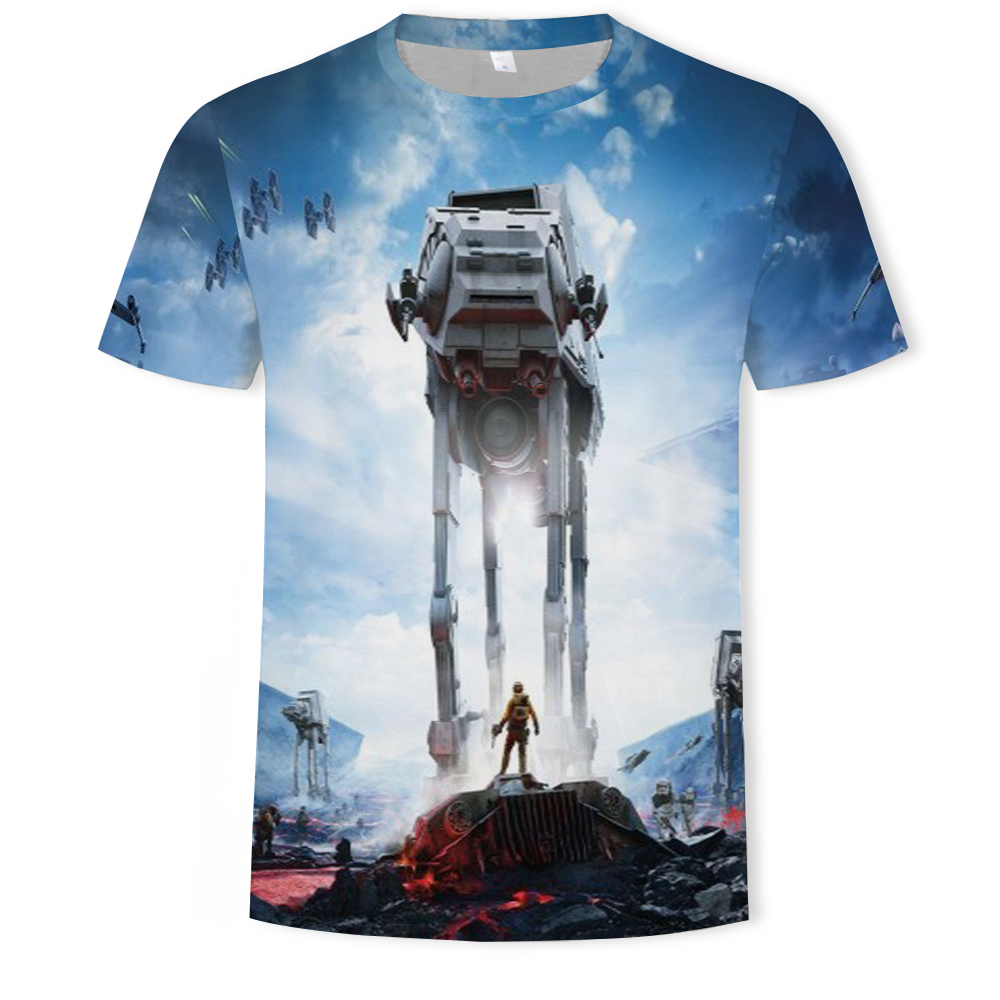 In 2021, the men's and women's 3D printed planet character O-neck T-shirt is a fashionable and versatile sports shirt