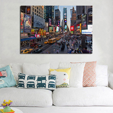New York Times Square Cityscape Wall Art Canvas Posters Prints Painting Oil Wall Pictures Modern Living Room Home Decor Artwork between home декоративная подушка new york times beige