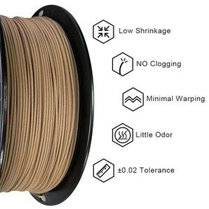 Image 2 - 3D Wooden PLA 3D Printer Filament 1.75mm 1000G/500G/250G Mahogany Wood Color 3D Printing Materials Supply PLA Dropshipping