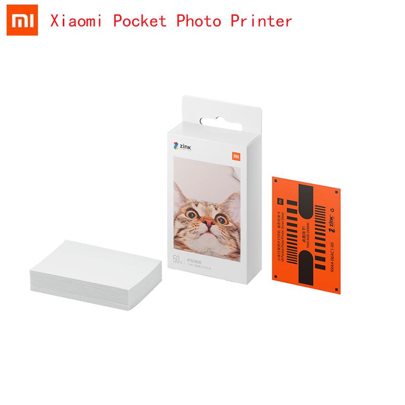 Original Xiaomi ZINK Pocket Printer Paper Self-adhesive Photo Print 20/50/100 Sheets For Xiaomi 3-inch Mini Pocket Photo Printer