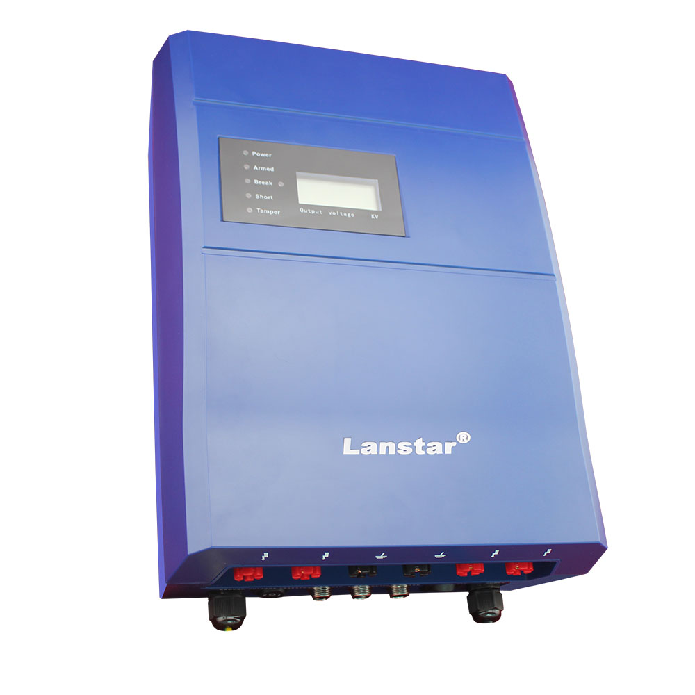 Lanstar LX-2008SCD Single Zone 3J Perimeter Security Electric Fence Energizer With Alarm Function
