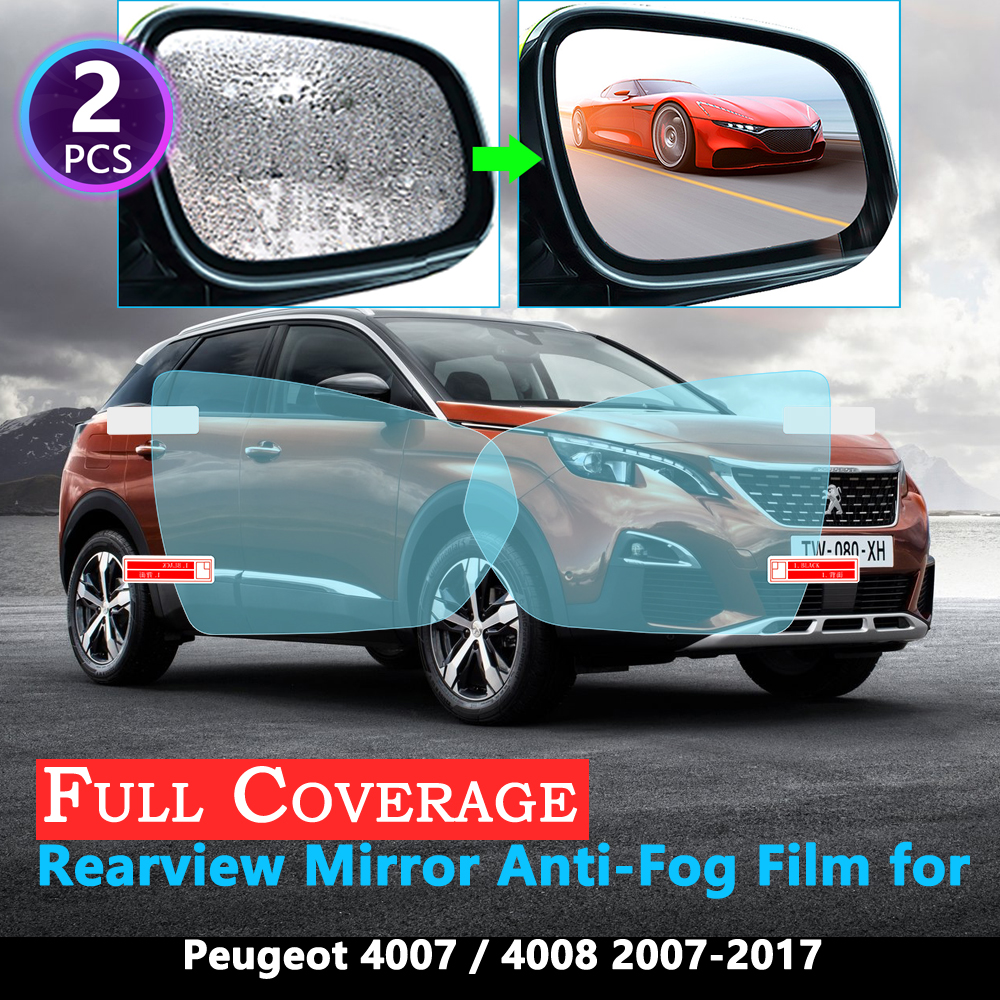 Full Cover Protective Film for <font><b>Peugeot</b></font> <font><b>4007</b></font> <font><b>Peugeot</b></font> 4008 2007~2017 Car Rearview Mirror Rainproof Anti-Fog film Accessories 2016 image
