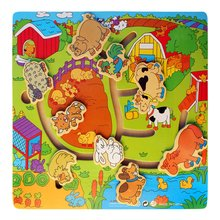 Childrens Educational Toys Wooden Toy Cartoon Animal Maze Realistic Modeling