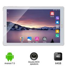 10,1 pulgadas Tablet pc 3G 4G llamada de teléfono Android 7,0 Octa Core Tablet piezas 64GB ROM 4GB RAM WiFi FM Bluetooth inteligente tabletas 7 8 9(China)