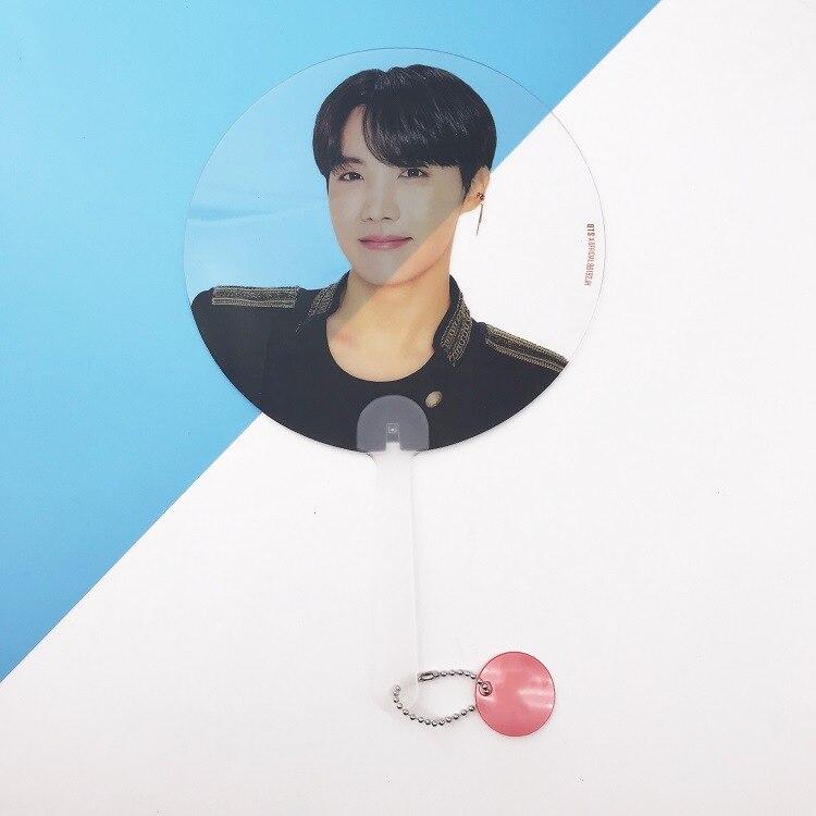 Kpop Bangtan Boys WORLD TOUR такие же полупрозрачные вентиляторы любят себя ответят на концерты те же вентиляторы 18X28 см - Цвет: J-HOPE
